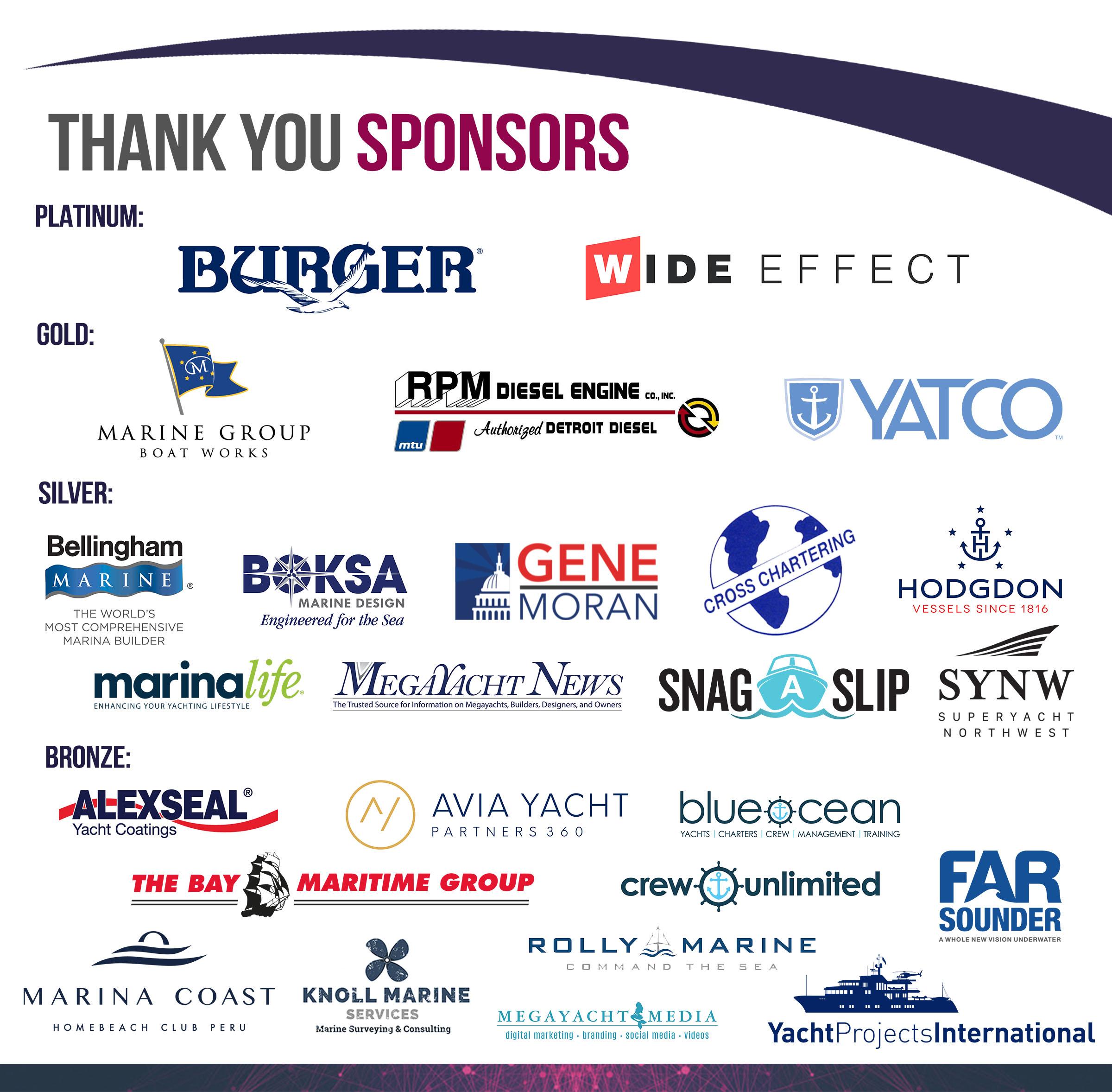 Superyacht Summit Sponsors