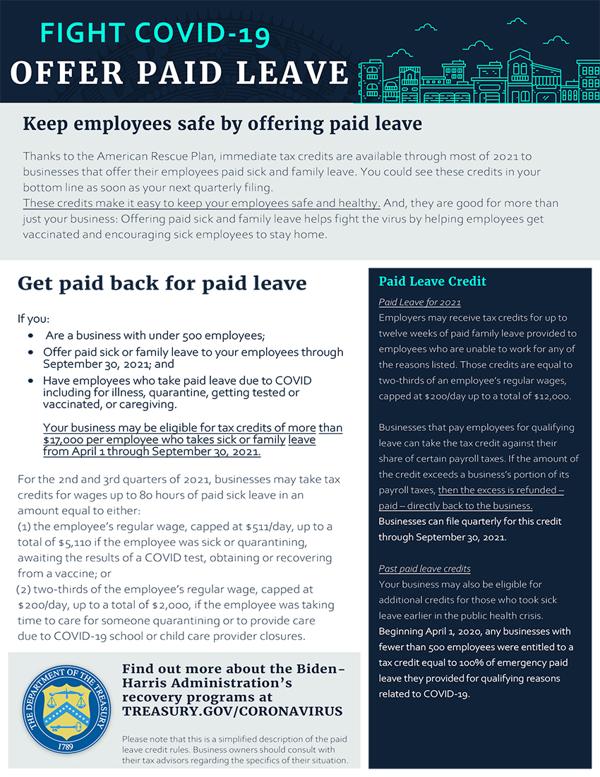 Paid Leve Credit Flyer