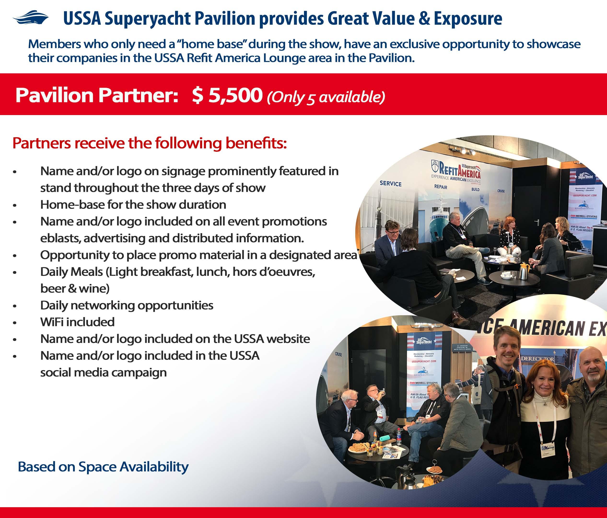 Pavilion Partner description and benefits