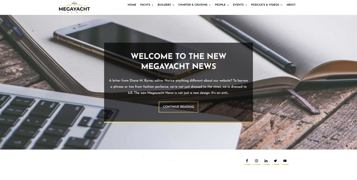 Megayacht news new website homeapage