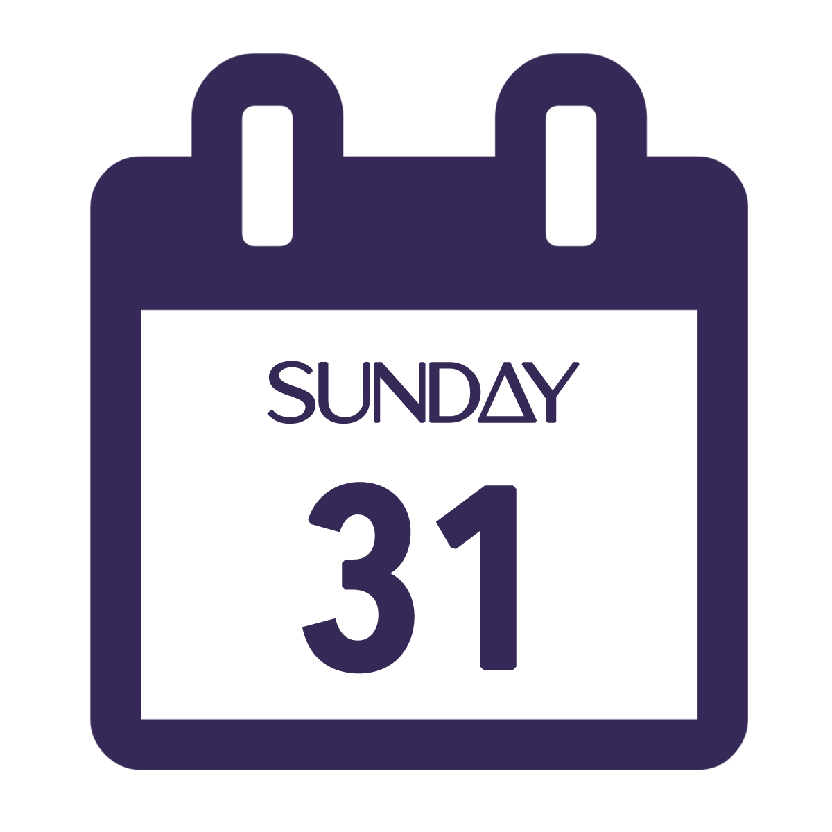 Sunday calendar icon