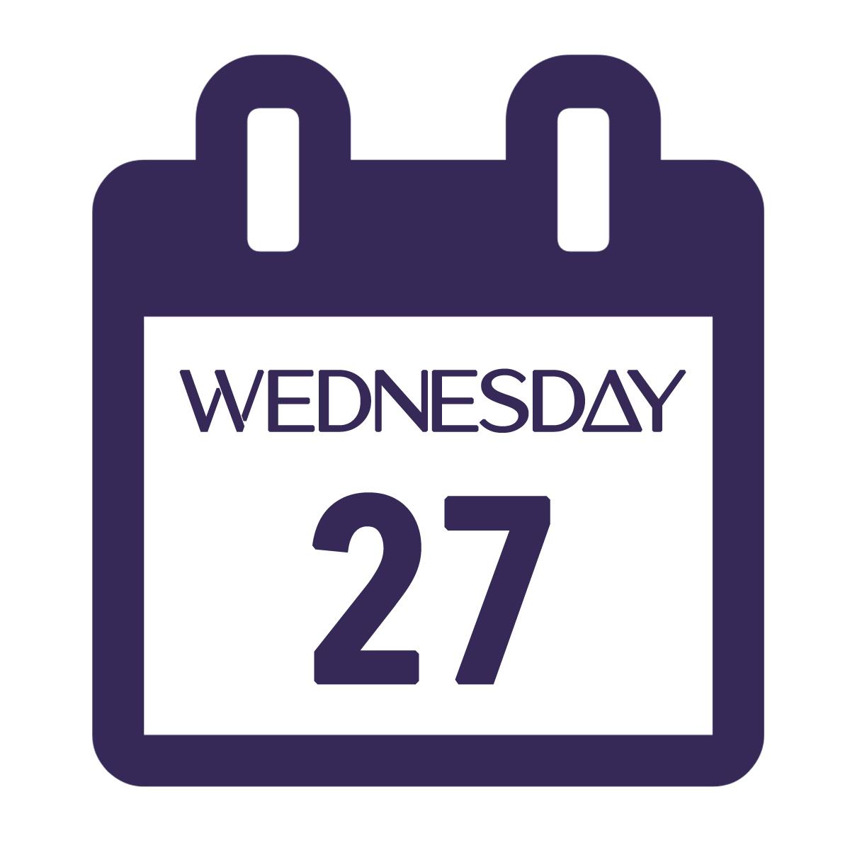 Calendar Image - Wed 27